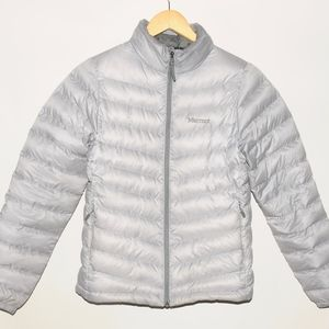 MARMOT 700 Fill Gray Silver Duck Down Jacket S